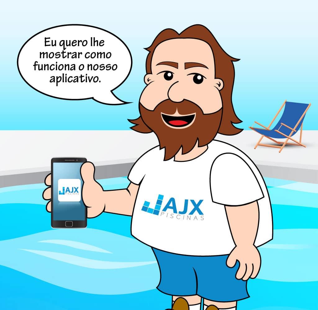 Animação: Aplicativo AJX Piscinas